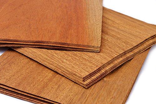 4-5 Furniere in der Holzart Mahagoni. Furnier geeignet für Modellbau, Ausbesserungsarbeiten, Fotografie, Geschenk, Restauration, DIY, basteln, Intarsien, Schmuck