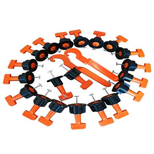 Herramientas de construcción 50 unids / set alineación de azulejos del baldosa Sistema de nivelación de carro de carrelage Localizador ajustable Spacers de nivel de aleta Level Wedges Herramientas de