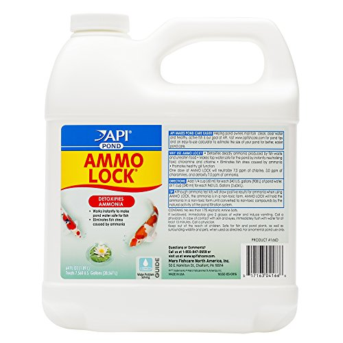 API POND AMMO-LOCK Ammonia detoxifier For Pond Water 64-Ounce Bottle