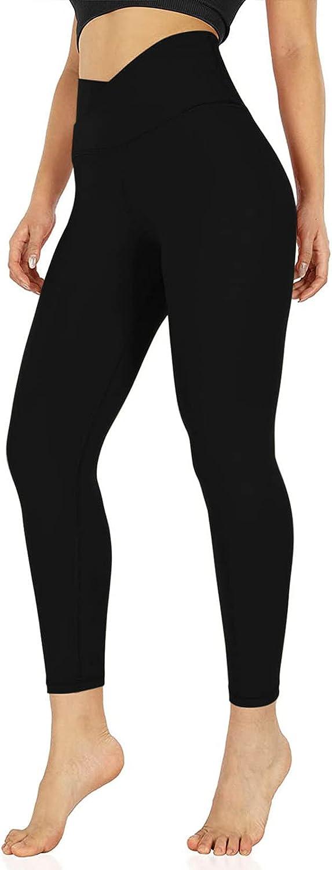 Womens Stretch Yoga Leggings High Waist Butt Lifting Leggings Fitness Running Gym Sports Full Length Active Pants