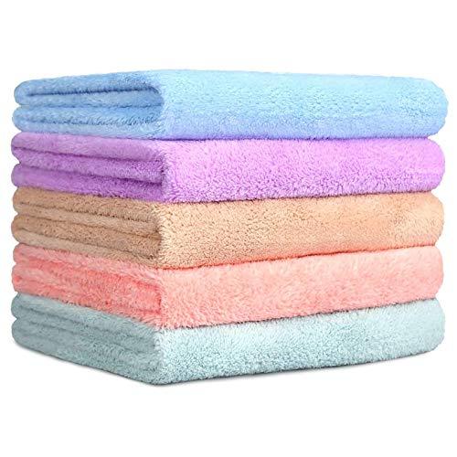 100/% Cotone 2 Pezzi 70 x 140 4 Pezzi 50 x 100 Collezione Aqua Fibro sei Design Asciugamano Set di Asciugamani da Bagno di 6 Pezzi