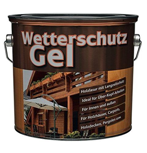 Meffert Langzeit Wetterschutzgel für innen und aussen seidenmatt Farbton Wählbar 4 Liter, Farbe:Palisander