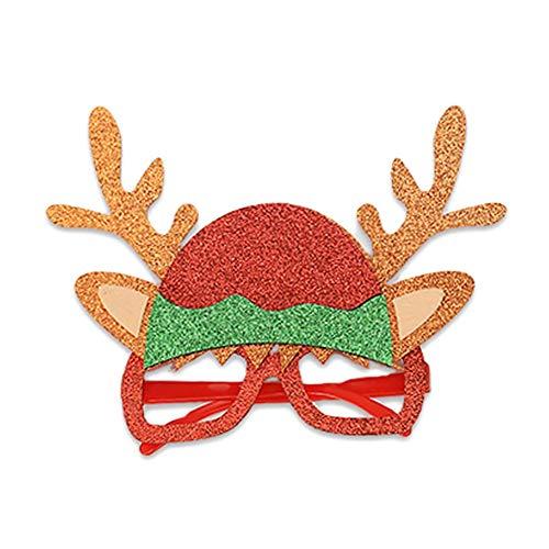 Ruipunuosi Weihnachtsgläser Niedliche Glitzer Geweihgläser Personalisierte Dekoration Kaffee für Erwachsene Kinder Weihnachtsfeier Dekoration