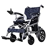 EMOGA Electric Powered Wheelchair Folding Lightweight 27Kg,Motorized Wheelchairs Mobility Scooter Convenient For Home And Outdoor Use,Seat Width 46Cm