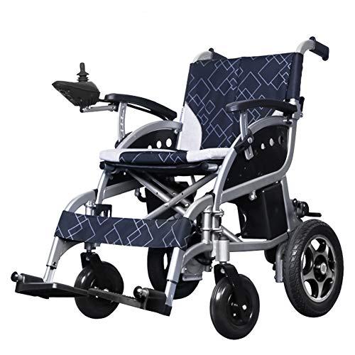 EMOGA Elektrischer Rollstuhl, 27Kg Intelligente Automatische Elektrorollstuhl,Aluminiumlegierung Faltbar Tragbare, Frei-Reiten, Rollstuhl,Sitzbreite 46Cm