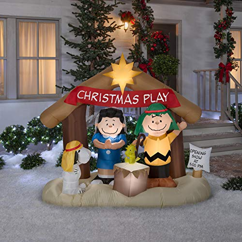 Inflatable Peanuts Nativity Scene