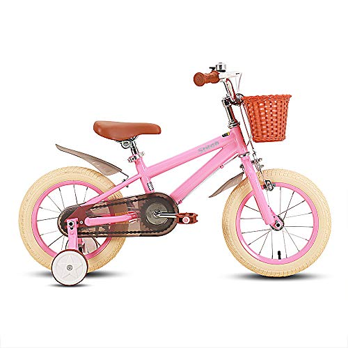 STITCH 16' Kids Bike for Girls & Boys Ages 3-5 Years Old, 14 Inch Children Bicycle with Training Wheels & Hand Brakes, pink…