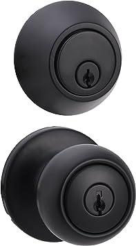 Door Knobs Coastal Basics Privacy Door Knob With Lock Matte Black ...