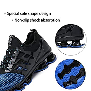 SKDOIUL Sport Running Shoes for Mens Mesh Breathable Trail Runners Fashion Sneakers Blue Size 10 (8066-blue-44)…