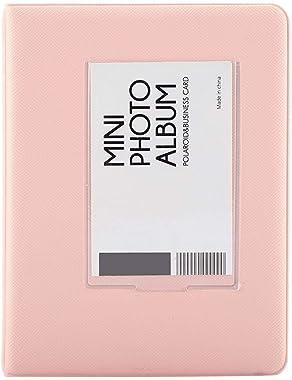 Raguso 64 Poches 3 Pouces Mini Album Photo Polaroid Album Photo Livre pour Fujifilm7s/8/25/50s/90 étui de Rangement pour Enfa