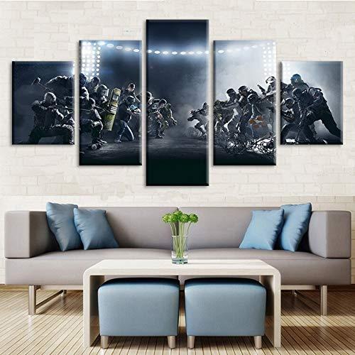 Y & Z HD bedrukte muur kunst 5 stuk schieten video spel Tom Clancy's regenboog zes beleg poster muur muurschildering woonkamer muur Decor canvas kunst