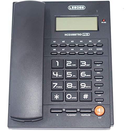 VERDELZ Teléfono Fijo Fijo Teléfono De Identificación De Llamada De Moda Manos Libres Sin Batería Interfaz Dual Teléfono Fijo Fijo para Oficina En Casa Teléfono De Negocios Fixe