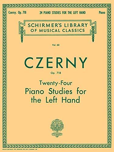 Twenty-Four Piano Studies for the Left Hand, Op. 718