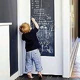 Vinilo adhesivo para pared, pizarra y pizarra borrable, pizarra extraíble para pared, autoadhesiva, reutilizable, borrable para niños, oficina en el hogar, color negro
