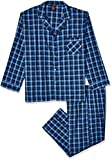 Hanes Big and Tall Men's Woven Plain-Weave Pajama Set, Navy, 2X Large