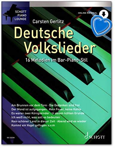 Canciones populares alemanas – 16 melodías en estilo de bar piano para piano – Edición con audio online – ED23234 9783795719272
