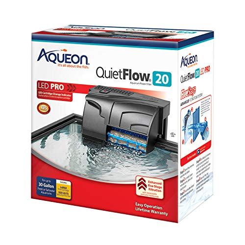 Aqueon QuietFlow LED PRO Aquarium Power Filter, Size 20