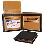 Punemi Geldbörse Herren, Portemonnaie Leder Minimalistisch Slim RFID Marvel, Münzfach Designer Trifold Personalisierte RFID-Blockierung, Kreditkartenhalter für Männer Geschenke