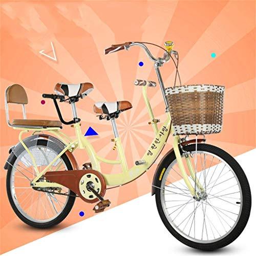 BOC 22-Zoll-Eltern-Kind-Auto Mutter-Kind-Auto Zweisitzer Fahrrad kann Kinderfahrrad Unisex, B,C