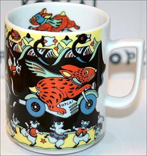 BUNNY (Grundfarbe schwarz) HASE Häschen auf Motorrad BOPLA! Maxitasse 0,3l Serie Evolution Kaffee- Tee- Glühwein- Becher, Maxi Tasse, Mug, Maxi Taza, Maxi Cup, Maxit Taza 0,3 l, 10-1/2 fl. oz. Einzelgewicht: 302g - Geeignet für alle heißen und kalten Getränke. Ihre Geschenk-Idee zum Sammeln. Platzsparend stapelbar. In verschiedenen Dekoren und Farbvariationen zur Auswahl BOPLA Porzellan kann bunt gemischt werden und es passt immer zusammen. So sieht Ihr Tisch jeden Tag anders, jeden Tag frisch aus. Ein Schweizer Qualitätsprodukt an dem Sie lange Jahre Freude haben werden