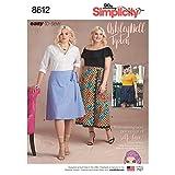 Simplicity US8612F5 Schnittmuster für Wickelrock von Ashley Nell Tipton, Größen 46 - 56 W