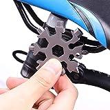 3 Paquetes, 10 en 1 Herramientas de reparación de Bicicletas, Equipo para Exteriores EDC Mini Tarjeta de Herramientas tácticas de Acero Inoxidable + Anillo