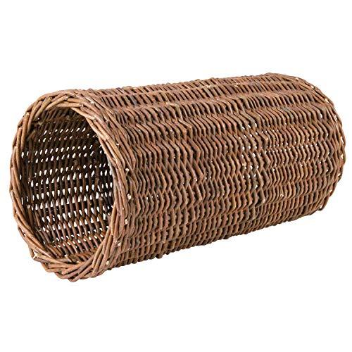 TRIXIE Túnel Mimbre para Conejos, ø20 x 38 cm, Pequeños Mamíferos