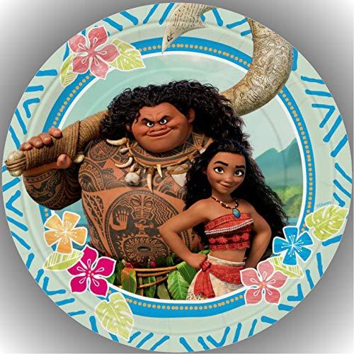 Fondant Tortenaufleger Tortenbild Geburtstag Disney Vaiana AMA3