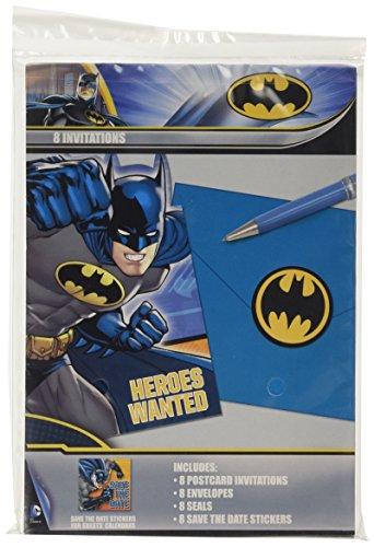 Amscan International Invitations et enveloppes Motif Batman