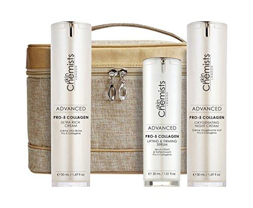 skinChemists SCPCES Set Crema Ultra Ricca al Collagene Pro-5 e Lifting, Firming Serum e Crema Notte Ossigenante