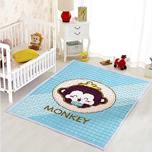 KTYX Bebé colchoneta de algodón almohadillado Dormitorio Plegable bebé Columpio Escalada Tatami for niños Tatami 200x150x3cm Estera de los niños (Color : 7)
