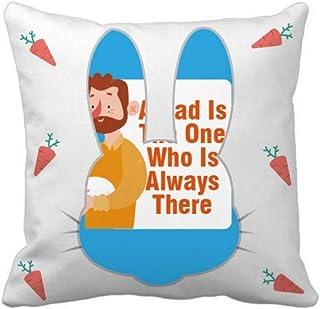 OFFbb-USA Father Loves Great Rabbit - Funda cuadrada para almohada