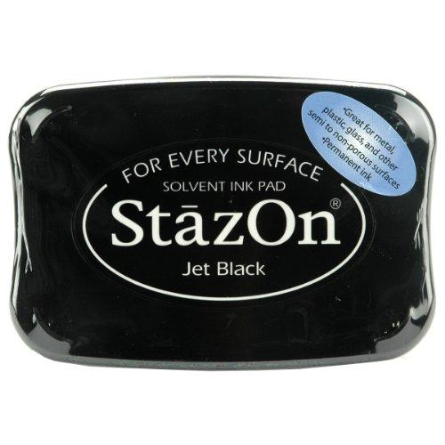 Unbekannt Stazon 05SZ31 Stempelkissen Schwarz-Jet Black, 9.5 x 6.5 x 1.6 cm