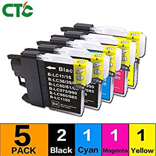 HAMISS 5PCS For LC39 LC60 LC985 LC975 Compatible For Brother DCP-J125 J315W J515W J140W MFC-J265W J410 J415W J220 Printer Ink
