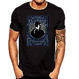 SEVENSIQI Nick Drake Poster Hombre Short Sleeve Neck Camiseta/T Shirt Black