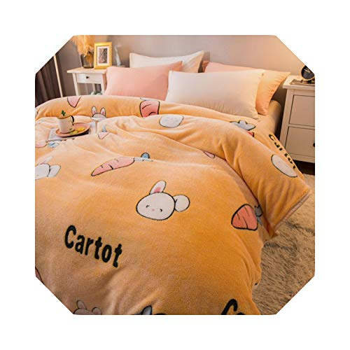 Carcasa de franela para sofá o cama, 200 x 230 cm, color amarillo