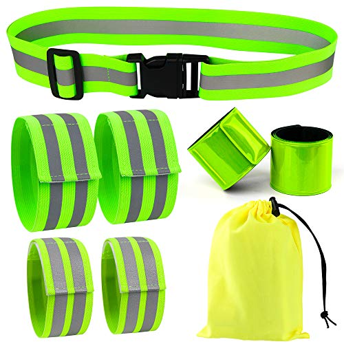 Vanmor High Visibility Reflective Bands for Wrist, Arm, Ankle, Leg. Reflective Running Gear for Men and Women, Safety Reflective Straps Bracelets for Night Running, Cycling, Walking.