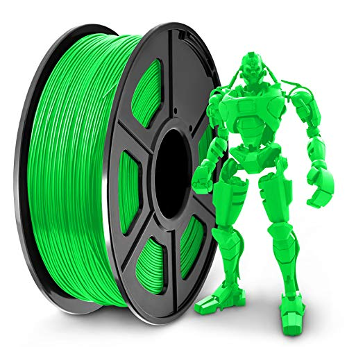 SUNLU PLA+ Filament 1.75mm for 3D Printer & 3D Pens, 1KG (2.2LBS) PLA+ 3D Printer Filament Tolerance Accuracy +/- 0.02 mm, Green