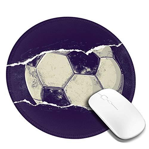 LQKSSLBO Redondo Alfombrilla De Ratón Balón de fútbol Americano, Alfombrilla Gaming, Base De Goma Antideslizante para Gamers, Pc Portátil Mouse Pad, 20cm