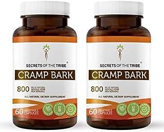 Cramp Bark 60 Capsules(2 pcs.), 800 mg, Organic Cramp Bark (Viburnum Opulus) Dried Bark (2x60 Capsules)