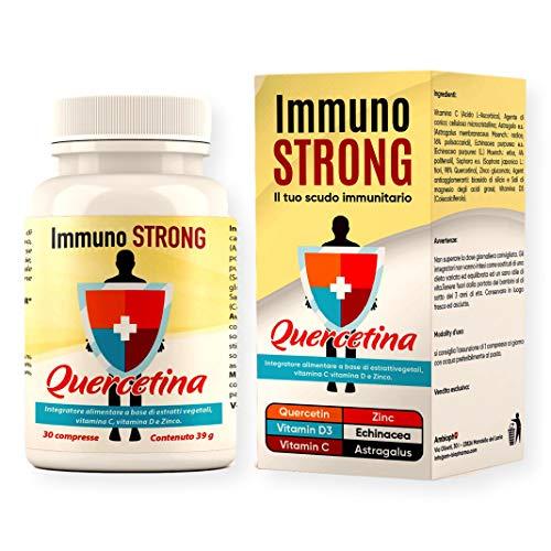 Immunostrong Quercetina - Multivitaminico Immunostimolante con Vitamina D e C, Zinco, Echinacea, Astragalo - AMBIOPH