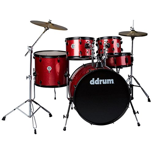 ddrum D2 Player Series Complete Drum Set with Cymbals, Red Sparkle