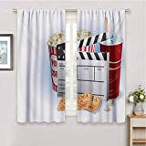anzonto Grommet Insulation Curtain Movie Theater Soda Tickets Fresh Popcorn and...