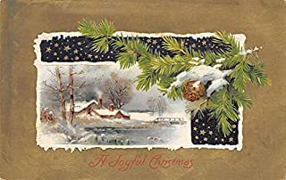 Christmas Post Card Old Xmas Postcard John Winsch Publishing Writing on back