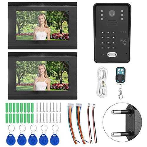 con 2 monitores de videoportero Inteligente, para visión Nocturna de Seguridad en la Oficina(Transl)