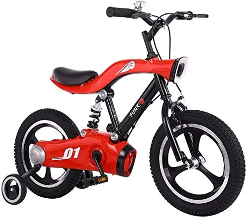 LJYY Kids Bike Boys Girls Freestyle Bicycle 12 14 inch with Training Wheels,16 18 20 inch with Kickstand Child's Bike Red White