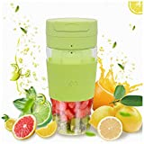 Miceshu Portable Blender, Cordless Personal Blender Juicer, Mini Mixer, Smoothies Maker Fruit Blender Cup With USB Rechargeable, 10oz/300ml for Home, Office, Sports, Travel, Outdoors BPA Free (10*8.2, Green)