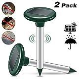 Vivibel 2PCS Repellente Talpa,Repellente per roditori da Giardino Energia Solare Gatti Ultrasuoni Ad Energia energia Solare ad ultrasuoni Impermeabile Prato Giardino