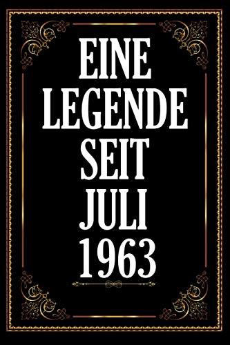 Eine Legende Seit Juli 1963: Notebook. Notizbuch- College Liniert Journal Linien Din A5 150 Seiten I Notizbuch I Skizzenbuch I Tagebuch I Ideenbuch I 57. Geburtstag 1963