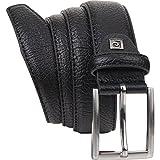 Pierre Cardin 8095 - Cinturón de cuero para hombre, negro negro negro 105